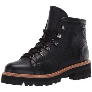 New Marc Fisher LTD Issy Leather Hiker Boots